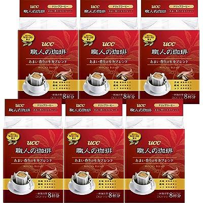 【わけあり】UCC 職人の珈琲 ドリップコーヒー モカブレンド 8P×6個(48杯分) 税込794円(132.3円/個)プライム会員送料無料