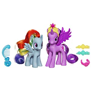 My Little Pony Princess Twilight Sparkle and Rainbow Dash Figures