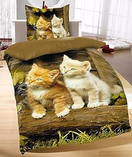 2 tlg oder 4 tlg FOTODRUCK Bettwäsche 135 x 200 cm Microfaser Garnituren