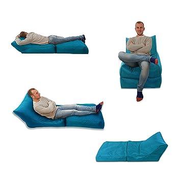 MaxiBean Bed Chaise Pouf Poire Turquoise/Bleu Aqua Intérieur et ...