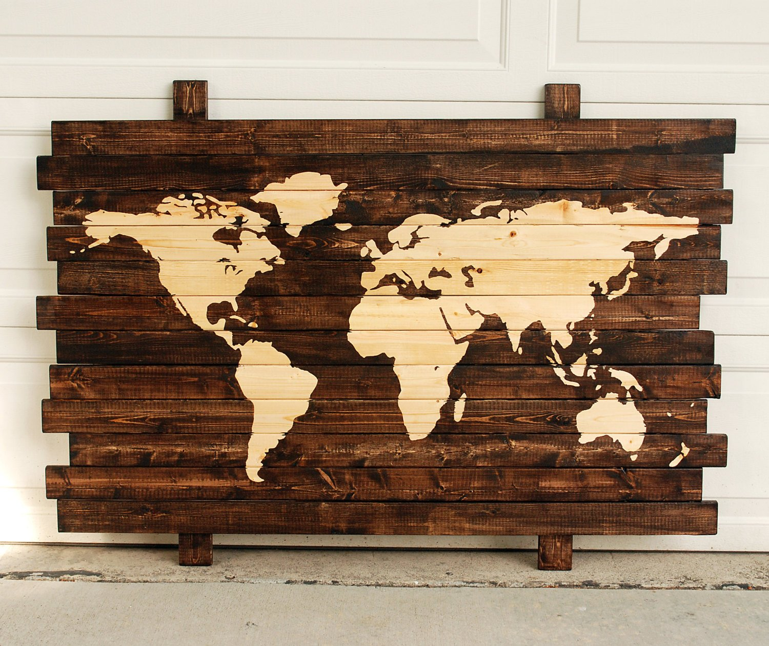 Amazon Com Extra Large Rustic World Map Stained Wall Art On