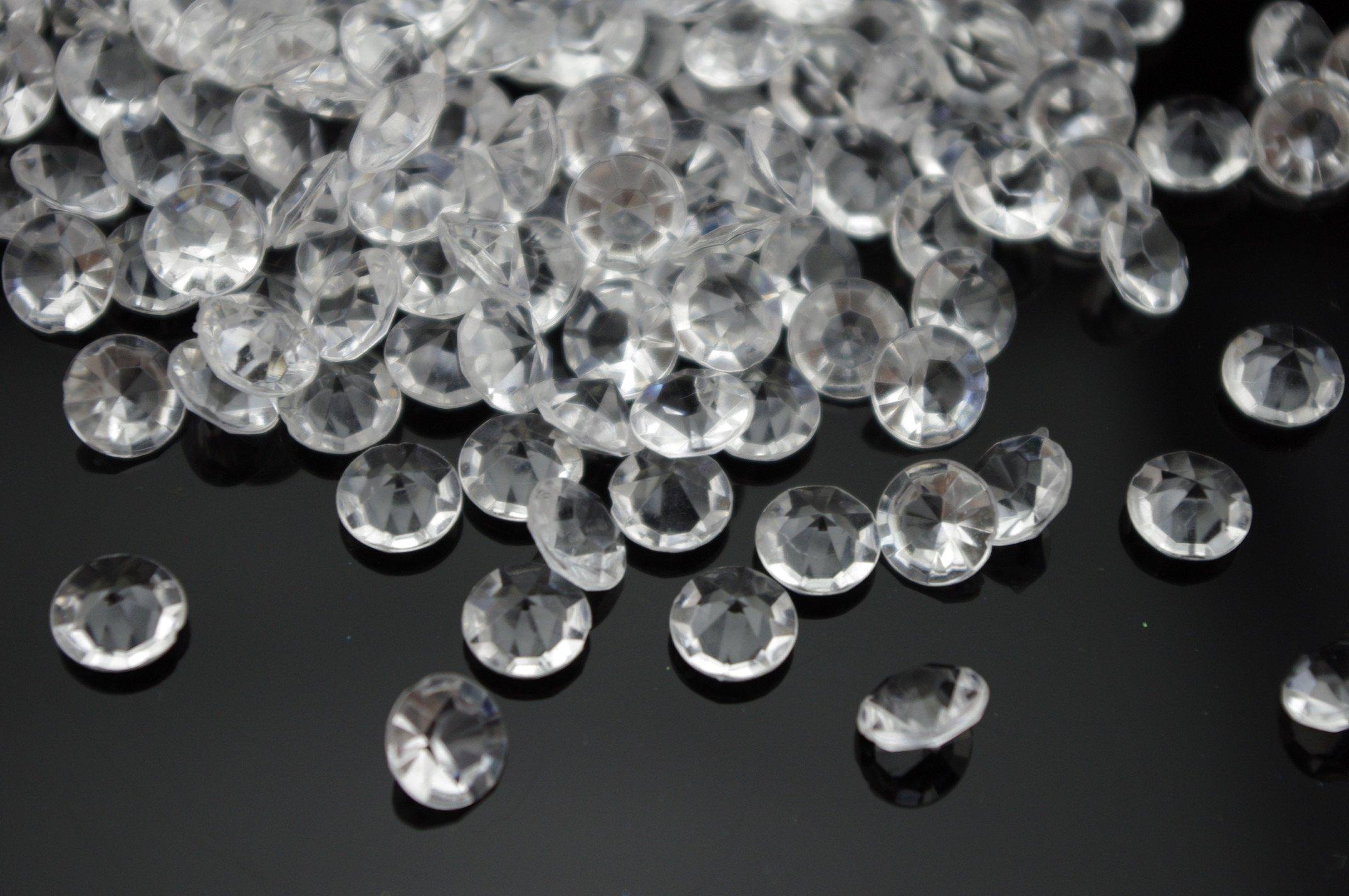 AEAOA 2000 Acrylic Diamond 4 Carat 10mm Table Confetti Wedding Bridal Shower Party Decorations (Clear)