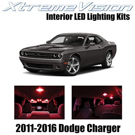 OCPTY 7 Pack Green Accessories Replacement Package Kit Replacement fit for 2008 Up Dodge Challenger LED Bulb LED Interior Lights