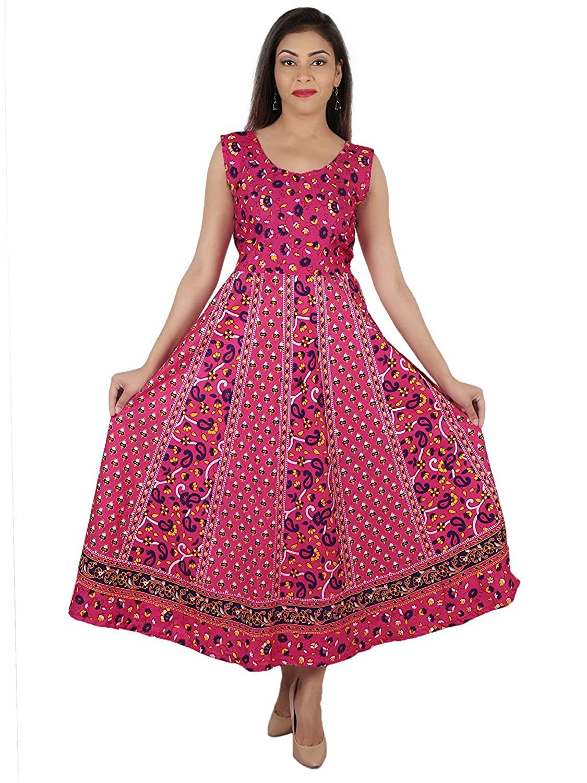 8a1617e3c3 Suraaj Fashion Combo Women`s Cotton Maxi Dress Set of 2 Maxi Dress  (Multicolor_Free Size): Amazon.in: Clothing & Accessories