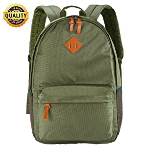"""Wot i School Backpack Travel Backpack for Women Lightweight WaterProof BookBags for Men Fits 14"""" Laptop for Travel Assorted Colors Black&Blue&Green"""