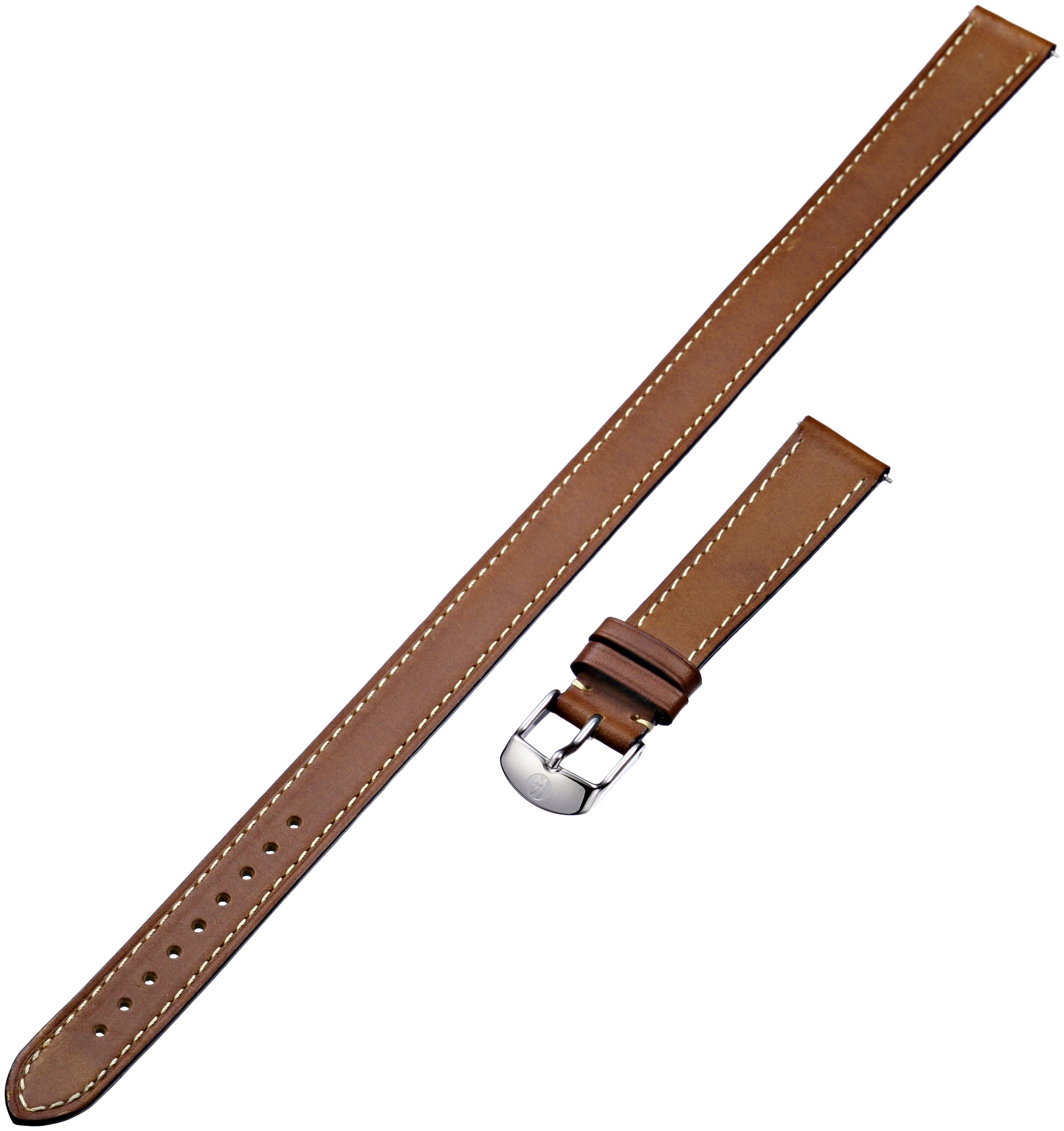 MICHELE MS16BX270216 16mm Leather Calfskin Brown Watch Strap