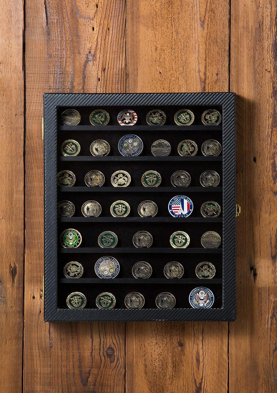 /épingles MK375A rubans vitrine porte coffret shadow box avec porte acrylique- badges JackCubeDesign D/éfi militaire pi/èce /& Casino jeton de poker /& m/édailles