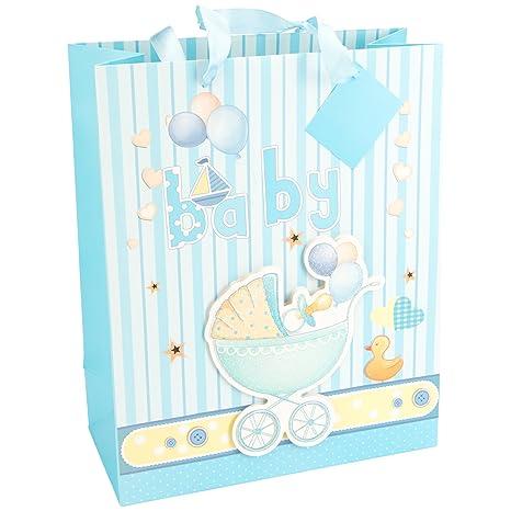LEVIVO Baby Design 2, Hellblau Bolsa de Regalo 3D para bebé, diseño 2,