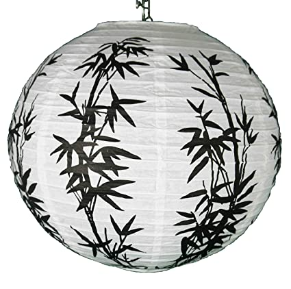 2 lámparas de papel para colgar de 35 cm. Diseño tradicional chino de árbol de cerezo