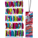 Neon Brushes Theme Laminated Bible Tabs (Large Print, Easy to Read), Personalized Bible Journaling Supplies, 120 Bible Index