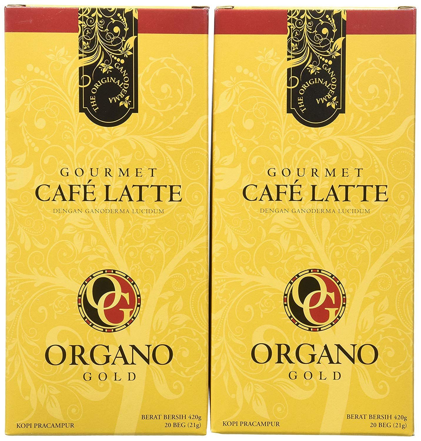 2 box Organo Gold Cafe Latte 100% Certified Organic Gourmet Coffee by Organo Gold