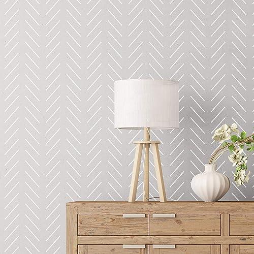 Classic Herringbone Stencil Small Craft Stencil to Paint Geometric Pattern Wall Art or Furniture