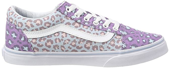 Vans Kids Old Skool (2-Tone Leopard) Baby Blue Diffused Orchid VN0A38HBR5L  Kids Size 10.5  Amazon.ca  Shoes   Handbags 77f1e04ca