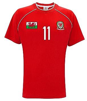 "Gales Oficial Internacional de mercancías Bale 11"" Supporters Camiseta de fútbol"