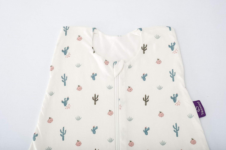 Tr/äumeland S0200602 Sommerschlafsack LIEBMICH aus Baumwolle mehrfarbig Gr/ö/ße 60 cm Design Kaktusliebe
