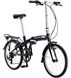 "Schwinn Adapt 1 7 Speed Folding Bike, Gloss Navy, 16""/One Size/20"""