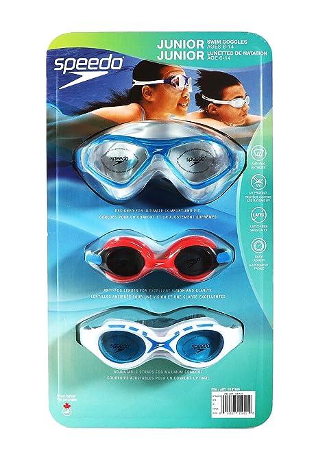 cda43c3864b Speedo Junior Kids Swim Goggles 3 Pack - Blue