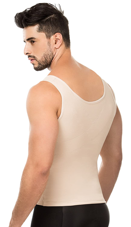 ShapEager Moldeadora Colombiana Mans Abs Top Shapewear Vest Zipper Back Support 8098-SFC/_7