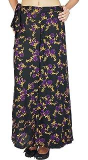 d7b96bbaa3 Phagun Single Layer Dress Cotton Wrap Floral Print Skirt Long Sari Sarong