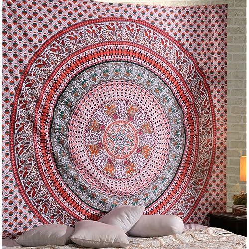 Para colgar en la pared, tapiz indio Mandala manta colcha, dormitorio tapiz, tapiz
