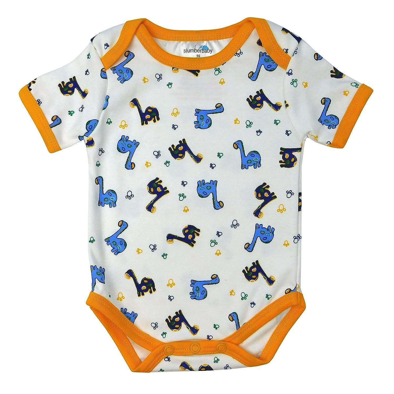 5 Pack Slumbersac Baby Bodysuit Short Sleeve Pink Elephant Size 92cm//18-24 Months