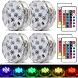 Submersible Led Lights Waterproof Multi-color Battery Remote Control, Party Perfect Decorative Lighting, Suitable for…