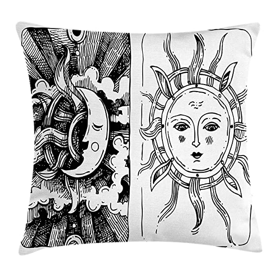 Pads bag Funda de cojín con diseño de Sol y Luna, Personajes ...