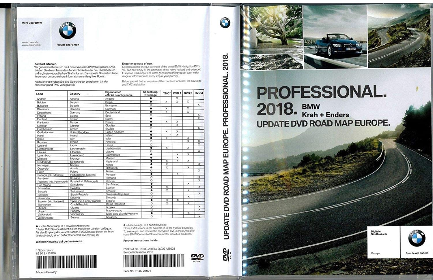 Genuine Bmw 2018 Professional Navigation Maps Europe Amazon Co Uk