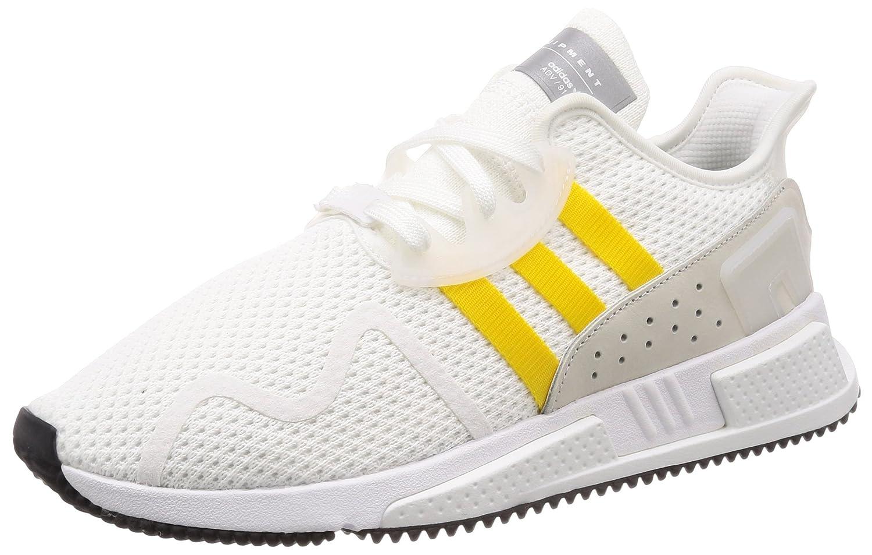 adidas Originals EQT Equipment Cushion ADV, Footwear White-EQT Yellow-Silver Metallic 8,5|Footwear White-eqt Yellow-silver Metallic