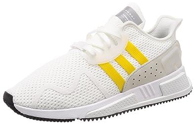 wholesale dealer 61a0e 7a4d5 adidas Originals Herren EQT Cushion ADV Sneakers Schuhe -Weiß Gelb
