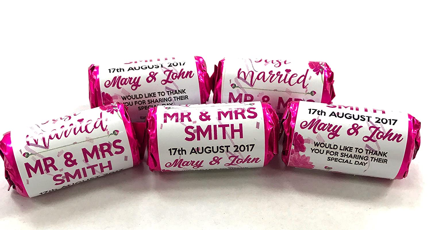 Personalised Mini Love Hearts Wedding Favours Just Married for ...