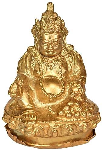 Tibetan Buddhist Deity Kubera – Small Statue – Brass Statue