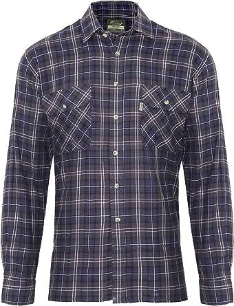 Champion Country Clothing - Camisa de leñador de calidad 100 % algodón para hombre Azul azul XXXX-Large: Amazon.es: Ropa y accesorios
