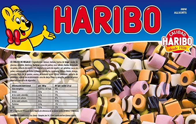 Haribo - Liquoreci Allsorts - Dulces de regaliz - 1 kg