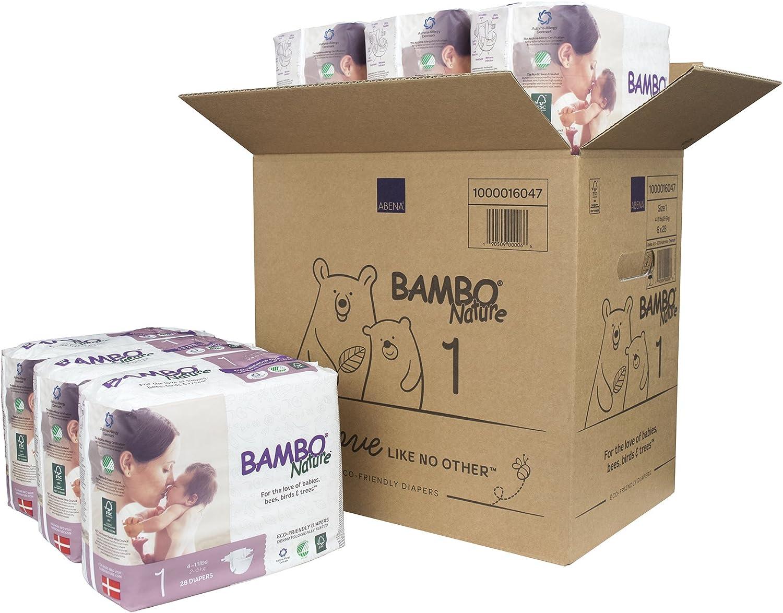 3 x alto paquete de 52 Pa/ñales ecol/ógicos ahorro de cajas 9-18 lb//4-8 kg Bambo Nature