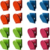 16 Pieces Multi Colour Magnetic Metal Clips, Refrigerator Whiteboard Wall Magnetic Memo Note Clip
