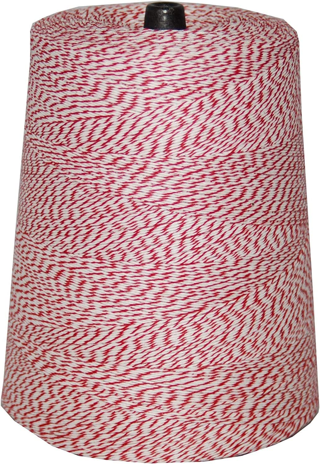 Great White Bakery Twine, Red & White 4-PLY Tying Cake & Pastry Boxes, Baking, Decoration, DIY, Arts and Crafts, Bakers Twine, String, 2lb. cone, 9,600ft., Durable, Variegated, Food Grade, Made in USA