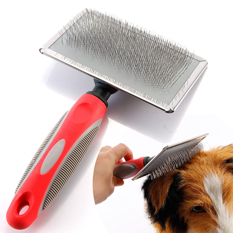 Hundebürste Katzenbürste Fellpflege Unterwollbürste Unterfellbürste für Mittel-& Lang-Haar Massage Hundekamm Fellkamm Anladia CGM0078