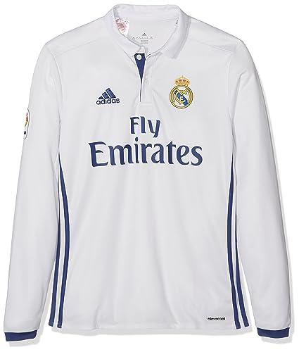 Adidas H JSY Y LS Camiseta 1ª Equipación del Real Madrid CF 2015 16 ... 43b7fdfc6ced1