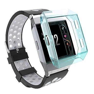 Fitbit Ionic caso, protectora de Tpu resistente a prueba de ...