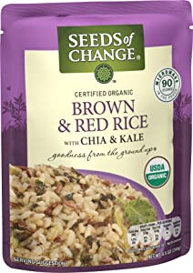SEEDS OF CHANGE Organic Brown & Red Rice, 8.5 Ounce, Pack of 12