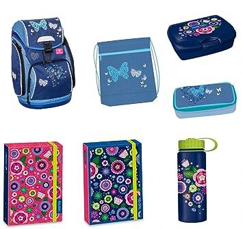 Mariposa Set de accesorios escolares Mochila Escolar ergonómica schultasche 42 x 26 x 19 cm apto para niños de entre 7 - 12 años inoxidable: Amazon.es: ...