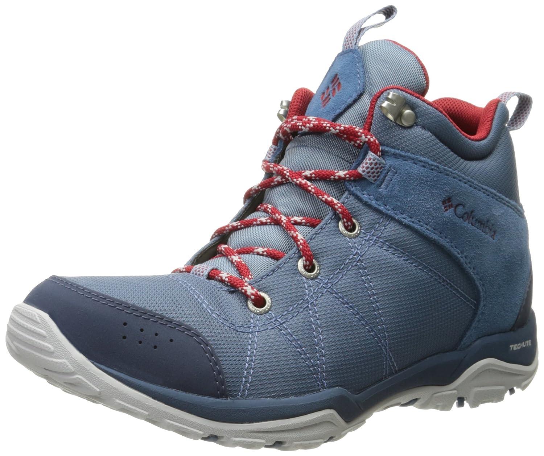 Columbia Women's Fire Venture Mid Textile Hiking Boot B01HEH5HKY 5.5 B(M) US|Steel, Rocket