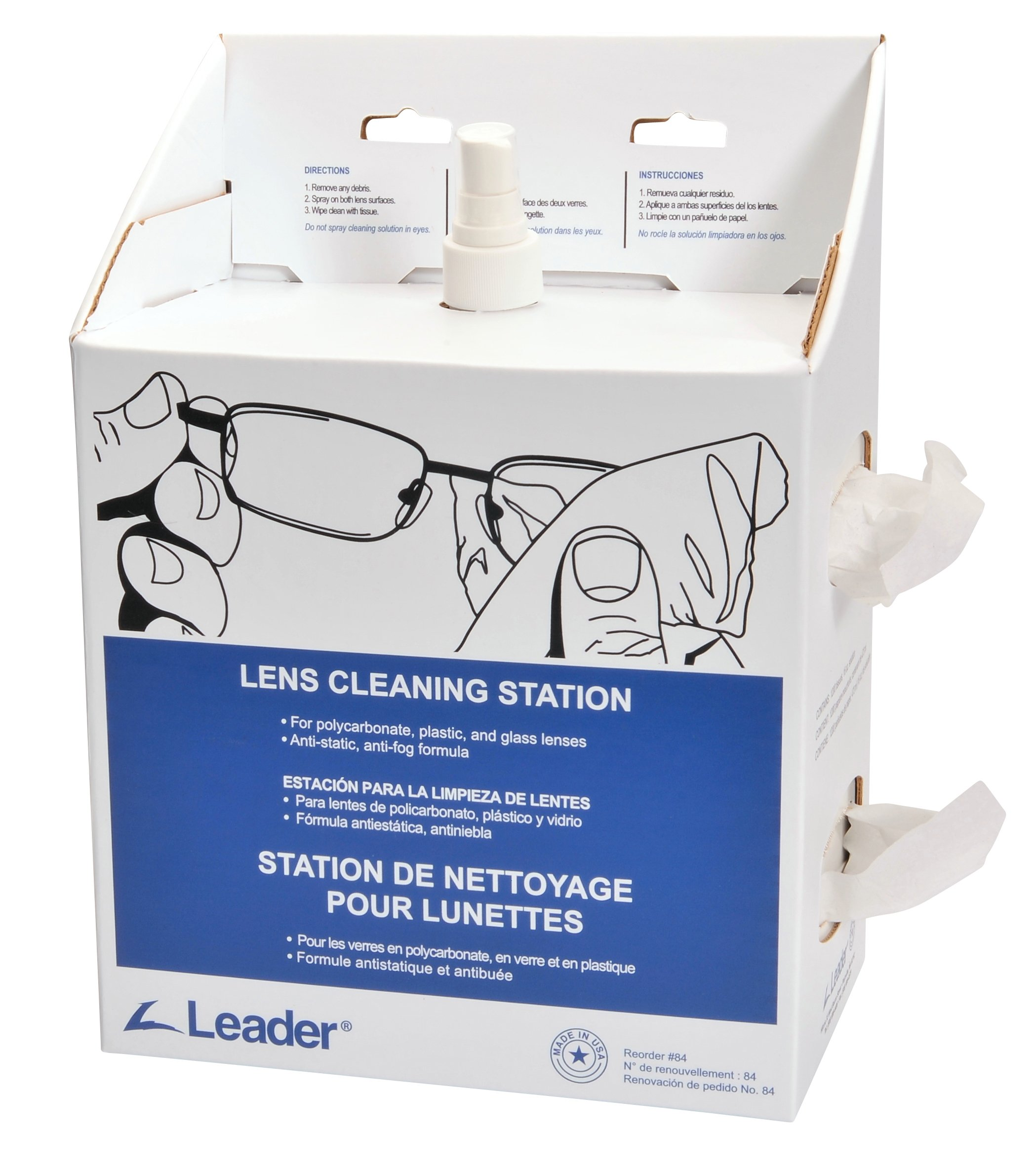 C-Clear 84 Lens Cleaning Disposable Station, Large by Leader