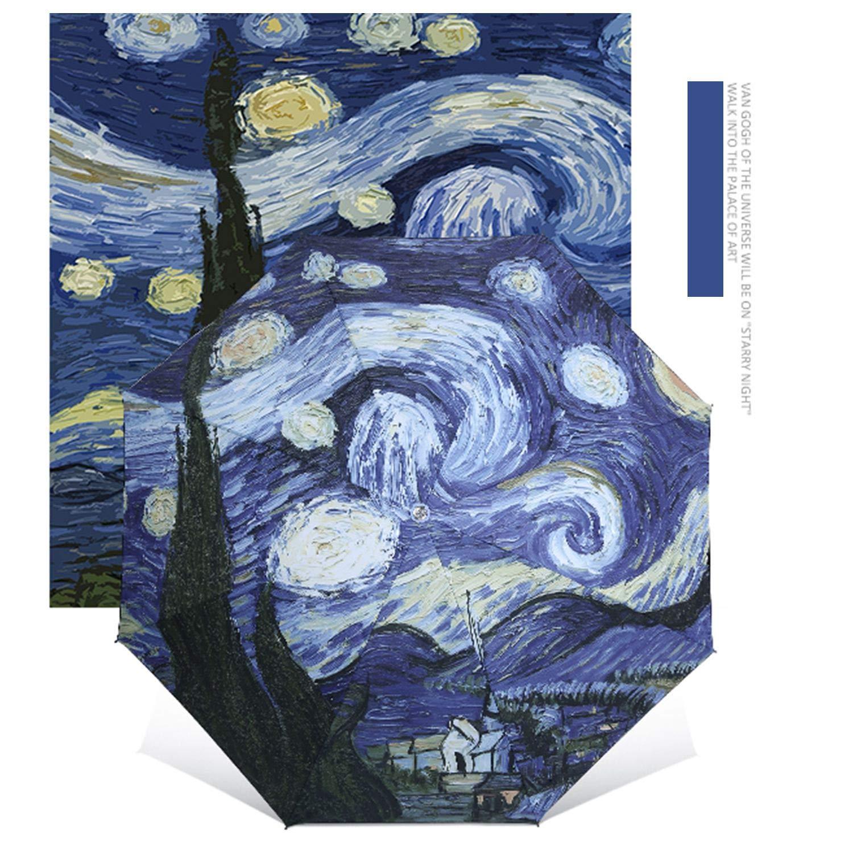 FairytaleMM 2017 Elegante Ombrello Van Gogh Pittura a Olio Arti Ombrello Innovativo Ombrello per Tutte Le Stagioni Rivestimento Interno Ombrello Anti-UV