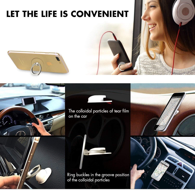 Lovesup Expanding 360 Rotation Cell Phone Socket Ring Holder,Mobilephone Kickstand Pop with Car Mount Grip for All Smartphones,Cases,Tablets-Jack Skellington Skellington