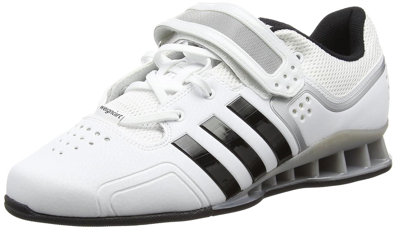 adidas Adipower Unisex-Erwachsene Hallenschuhe  42 EU|Wei? (White/Core Black)