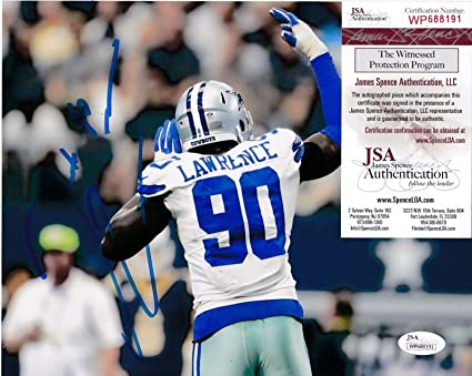 4a2bafd3a Signed Demarcus Lawrence Photograph - 8x10 - JSA Certified - Autographed  NFL Photos
