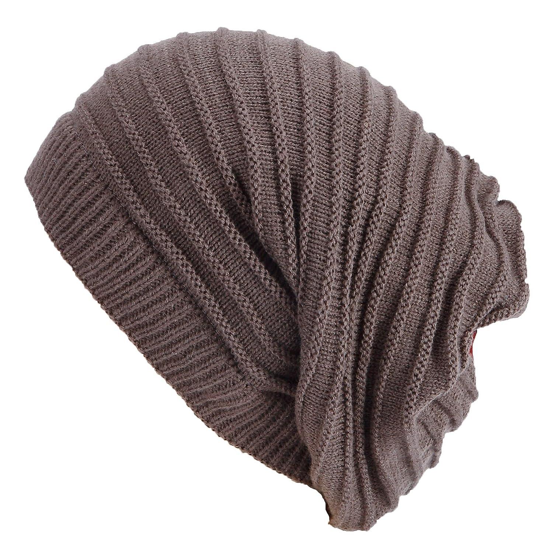 Damen Herren Strickmütze Schal Kombination Long Beanie mit Streifen  Wintermütze lange Slouch Mütze One Size jetzt kaufen b408deb03f