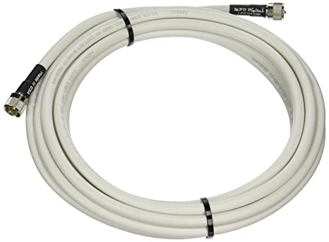 MPD Digital LMR400-W-PL259-20ft Radio Antenna Cable VHF & AIS Coaxial with Silver Teflon UHF PL-259, 20